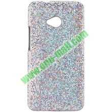 Wholesale for htc one m7 cover with Shining Glitter Powder