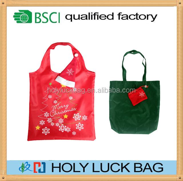 OEM custom clourful reusable eco bag polyester for shopping