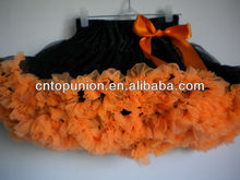 orange baby girl fluffy pettiskirts girl's tutu skirts halloween pettiskirts baby halloween pettiskirt set
