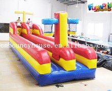 High Quality Inflatable Bungee Run 2 Lane with Basketball Hoops, Sports Running Game for Adult