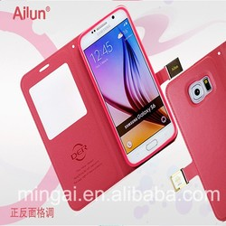 Hello Deere Ailun series PU Leather Flip Case PU Wallet cover for Samsung S6 /G9200