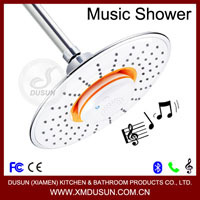 Xiamen Dusun Bathroom Accessories Bluetooth Music Phone Speaker Shower Head holder