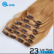 Top Quality Private Label No Shedding No Tangle Remy Human Hair clip extension hair piece