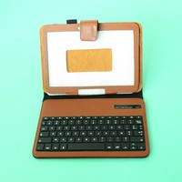 Wireless Bluetooth keyboard leather case with hold stand for iPad 2