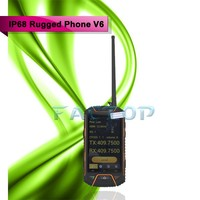 4.0Inch Rugged Phone Walkie Talkie Dropproof Dustproof and Waterproof V6 NFC PTT
