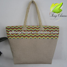 2014 newest wave printing paper straw jute beach bags shopping bags handmade nature wholesales cheap