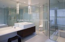 Pared de vidrio baño panel interior de la pared cristal de china proveedor