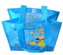 colorful oilcloth bag grocery non woven bag with matt laminated 2012 recycled foldable non woven shopping bags