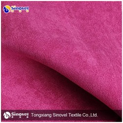 Popular 100% Polyester Suede Fabric/Microfiber Fabric For Sofa/Garment