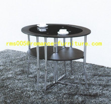 round glass dining table chairs Dining Table Set T056