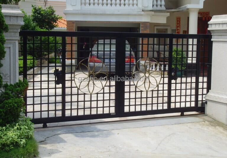 Galvanized iron metal gates iron swing main gate design Metal gate designs images