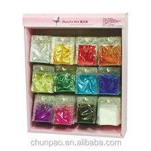Wholesale bulk Glitter Powder DISPLAY CASE Polyester Glitter Powder Bag for nail glitter powder, art craft kit, body glitter