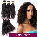 Venta al por mayor del precio de fábrica 100% de la virgen brasileña profunda del pelo rizado que teje para negro mujeres