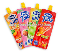 Juice plastic flask pouch food pouch for kid snacks