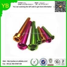 Custom OEM M3,M5 best quality colored anodized aluminum bolts& screws