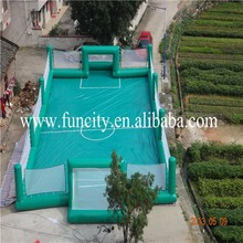 Amazing sports games inflatable soap football field , football pitch for kids and adults