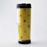 Direct from china wholesale insulated single wall coffee plastic travel mug bpa free