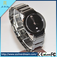 Popular gift for men quartz watch promotional black ceramic watch