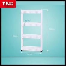 Easy pull out crack crevice sundries storage plastic bath kitchen corner shelf