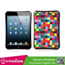 Creative Colorful Square Checks TPU Cover Case for iPad Mini