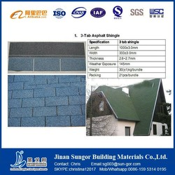 Heat Insulation Red Asphalt Shingle Roofing Tile