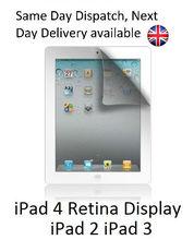 iPad 2 3 & 4 Retina Display Clear Screen Covers Protectors