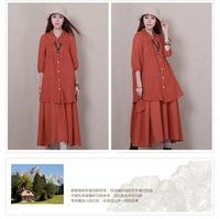 новые женской потерять большой ярдов Японский хлопок рубашка локтя шить блузку