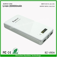 Battery ROHS Portable Power Bank 20000mah Charger
