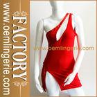 Nova chegada um vermelho- ombro sequined vestido sexy