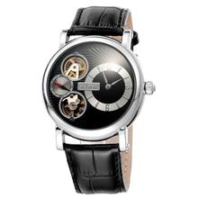 Skone fashion skeleton mechanical watch