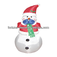 120cm/4ft high polyester (blue and red)small inflatable snowman for christmas
