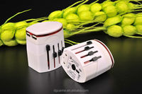 china supplier universal electrical travel adapter with 5V 2.1A USB with EU UK US AU plugs