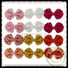 """Em estoque 2.4 """" decorativa oco flores de tecido fita de cabelo arcos sapatos / vestuário / roupas acessórios"""