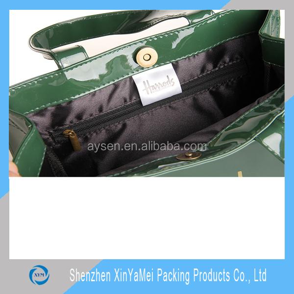 shiny Fashion Shopper Tote harrod customized bag PVC High quality