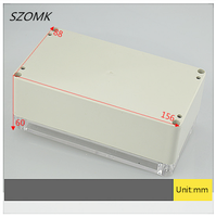 60*88*156mm ABS Transparent Cover IP65 Waterproof Junction Box Case Indoor and Outdoor Devices Through Line Enclosure