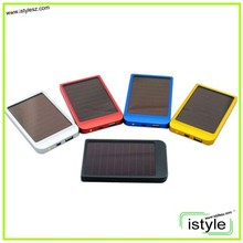 2600mah colorful mini solar super slim powerbank