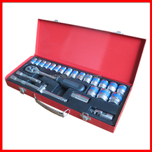 "23pc Blue Rim Socket Tool Set 1/2"" Drive"