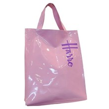 PVC beach bag shopping bag glossy shopper tote luxury customized bag
