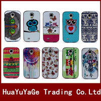 Colorful Flower Owl Pattern TPU+PLastic Soft phone cases cover for Samsung Galaxy S4 mini i9190