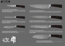 7 Pcs damascus steel knife set pakistan damascus knife