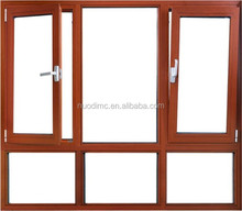 2015 China manufacturer 60 series residential and durable aluminium alloy tilt and turn casement window with double layers glass