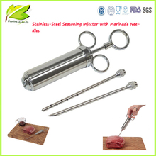 Stainless steel food injector /Stainless-Steel Seasoning Injector with Marinade Needles