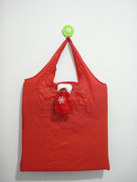chrismas nylon foldable shopping bag