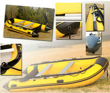 3.6m pvc CE aluminum floor inflatable pontoon boat for fishing
