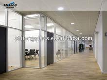 Qinhuangdao segurança porta do escritório de vidro/porta de vidro decorativo com certificado 3c/made in china