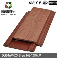 2015 G&S Hot Sales!! Exterior wood plastic composite decking flooring WPC Wall Cladding/High quality wpc wall panel
