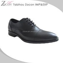 New Design Black Lace-Up Men's Wedding Shoe