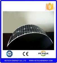 57w high efficiency semi/mini flexible solar panel price for car
