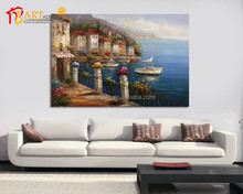 Modern home decor impressionist venice oil painting