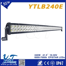 Y&T240w smooth surface led driving spot light 4x4 car accessories led lighting bar